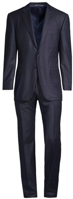 Canali Classic-Fit Micro Check Wool Suit