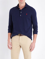 Polo Ralph Lauren Slim-fit notched hem cotton-piqué polo shirt