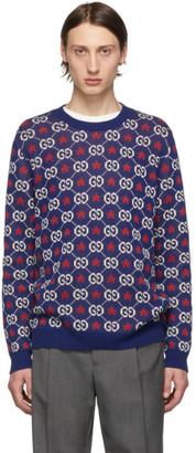 Gucci Blue GG Crewneck Sweater