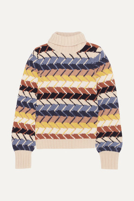 Chloé Merino Wool And Cashmere-blend Turtleneck Sweater - Ivory