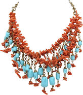 One Kings Lane Vintage Festoon Coral & Faux-Turquoise Necklace