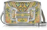 Pierre Hardy Alpha Multi Yellow & Silver Metallic Leather Crossbody Clutch