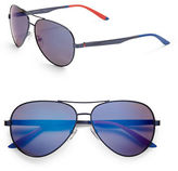 Carrera 65mm Oval Aviator Sunglasses