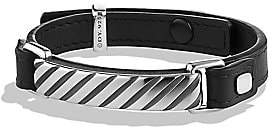 David Yurman Men's Modern Cable ID Leather Bracelet