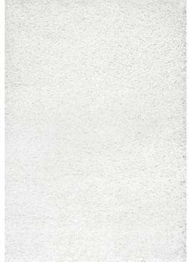 "nuLoom Easy Shag Marleen Plush White 7'10"" x 10' Area Rug"