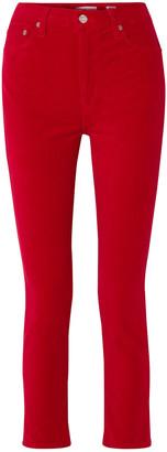 RE/DONE Stretch-cotton Velvet Skinny Pants