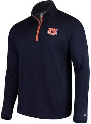 Champion Men's Navy Auburn Tigers Ribbed Quarter-Zip Pullover