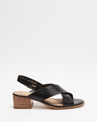 Spurr Women's Black Strappy sandals - Anise Comfort Heels - Size 5 at The Iconic