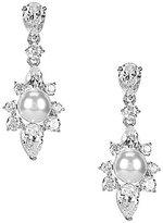Nadri Isolde Pearl Cubic Zirconia Drop Earrings