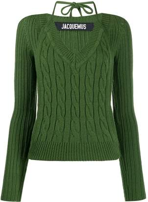 Jacquemus Layered cable-knit jumper