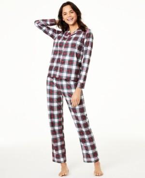 Family Pajamas Matching Women's Stewart Plaid Family Pajama Set, Created for Macy's