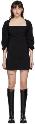 Vejas Black Elasticized Yoke Dress