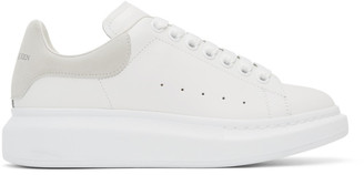 Alexander McQueen White and Off-White Oversized Sneakers
