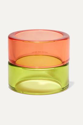 Dries Van Noten Set Of Two Perspex Bangles - Orange