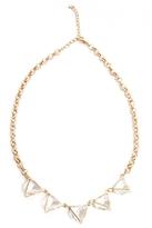 Quiz Gold Triangle Jewel Necklace