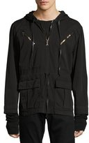 Hudson Mason Pullover Hooded Jacket, Black