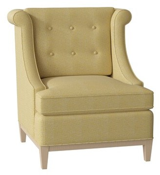 Hekman Nadine Side Chair Body Fabric: 5576-232, Leg Color: Dove Grey, Seat Cushion Fill: Extra Firm