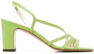 Michel Vivien Bloem 80mm strappy sandals