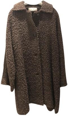 Genny Brown Wool Coat for Women Vintage