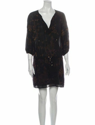 Ulla Johnson Printed Mini Dress Brown