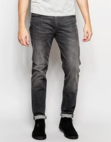 Lee Jeans Arvin Stretch Slim Tapered Fit Grey Worn
