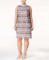 Love Squared Trendy Plus Size Jacquard Sheath Dress