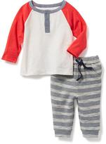 Old Navy 2-Piece Henley Tee and Leggings Set for Baby