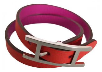 Hermã ̈S HermAs Behapi Orange Leather Bracelets