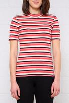 Only Highneck Striped Top