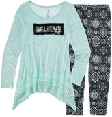 Knitworks Knit Works Legging Set with Reversible Sequins Top - Girls 7-16 and Plus