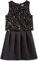 Epic Threads Sequin Popover Fit and Flare Dress, Big Girls (7-16), Created for Macy's