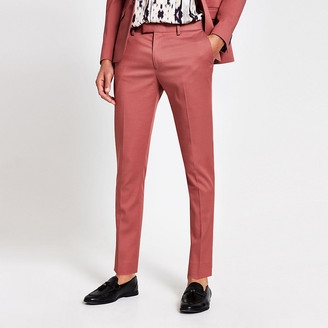 River Island Pink skinny suit trousers