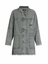 House of Holland X Lee striped denim coat