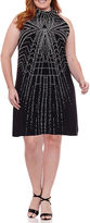 Robbie Bee Sleeveless Geometric Sheath Dress-Plus