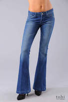 Paige Manning Flare Jeans in Power Blue