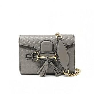 Gucci Emily Grey Leather Handbags