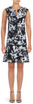 Lord & Taylor Floral Dropped Waist Dress