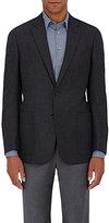 Giorgio Armani Men's Wool Flannel Two-Button Sportcoat-Dark Grey