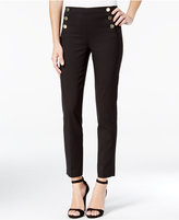 XOXO Juniors' Button-Front Slim-Leg Ankle Pants