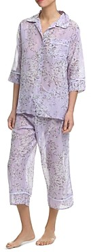 Papinelle Cherry Blossom Cropped Pajama Set