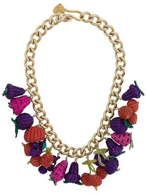 Mercedes Salazar woven fruit necklace