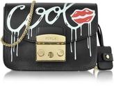 Furla Metropolis Mania Onyx Leather Mini Crossbody Bag