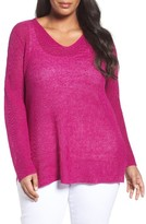 Eileen Fisher Plus Size Women's Organic Linen Rib Knit Pullover
