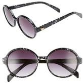 Draper James Women's 53Mm Round Gradient Sunglasses - Black