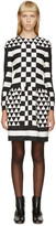 Valentino Black and White Geometric Patterned Dress