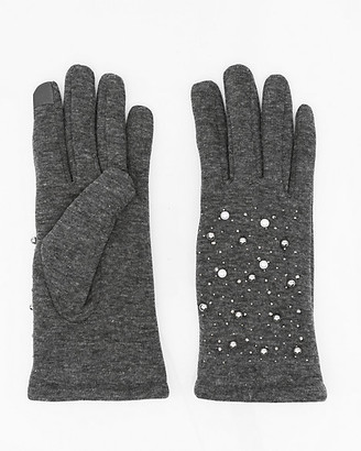 Le Château Jewel Embellished Knit Touchscreen Gloves