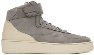 A-Cold-Wall* Grey Suede Rhombus Hi-Top Sneakers