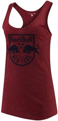 New Era Women's 5th & Ocean by Red New York Red Bulls Tri-Blend Racerback Tank Top