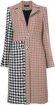Ellery checkered panelled coat - women - Silk/Cotton/Virgin Wool - 6