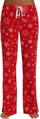 Blis Women's Sleep Bottoms Holiday - Red Snowflake Drawstring Pajama Pants - Women & Plus